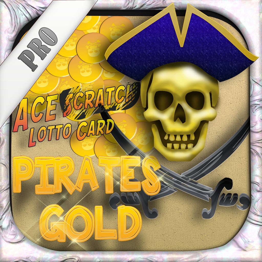 Ace Scratch Lotto Card PRO - Pirates Gold Casino Lottery Lucky Cash